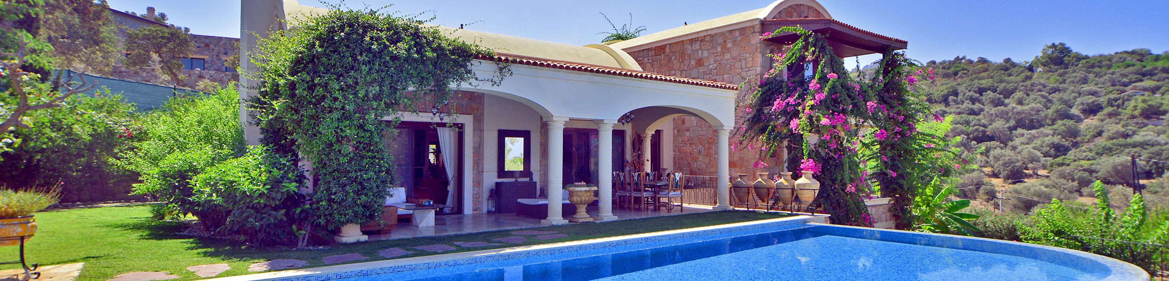 Luxe villa Yalıkavak Bodrum te koop privé zwembad uitzonderlijke privacy