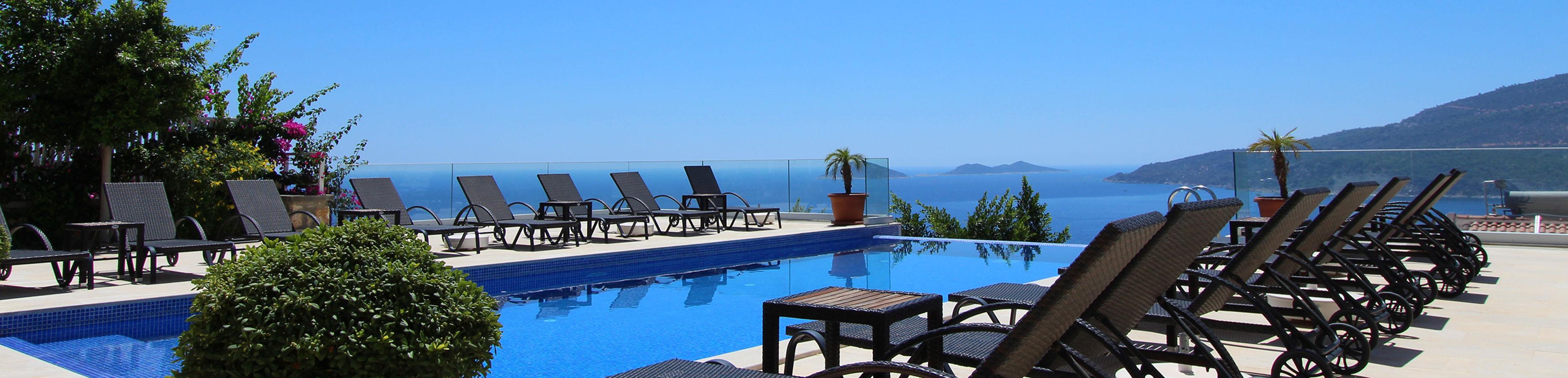 Kalkan Penthouse Appartementen te koop Panoramisch Zeezicht
